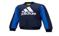 adidas阿迪达斯童装2018冬装新款男女小童运动休闲加绒外套DT2352