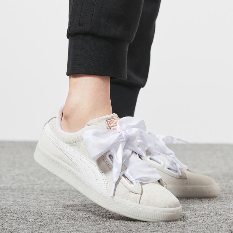 PUMA彪马女鞋2018秋季新款Suede蝴蝶结丝绸带休闲鞋板鞋36702901