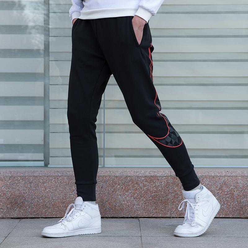 耐克男裤2019春季新款运动裤大LOGO休闲针织小脚长裤BV5827-010