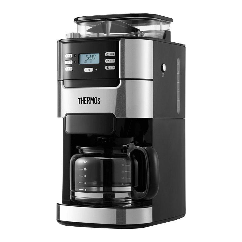 THERMOS/膳魔师 EHA-3422E咖啡机全自动家用商用办公室豆粉两用