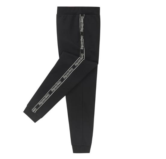安踏女裤运动裤加绒2019冬季新款收脚口针织长裤厚字母16947764-1