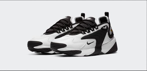Nike耐克官方 ZOOM 2K 女子运动鞋 休闲鞋 复古AO0354-100(黑色)AO0354-108(橙色)