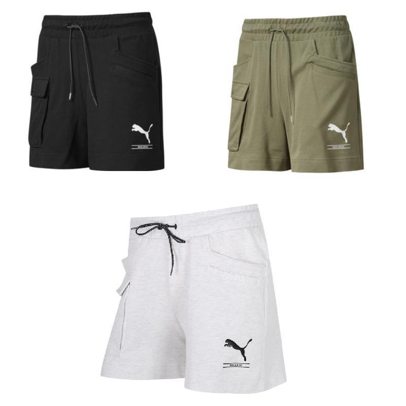 2020年PUMA彪马抽绳女短裤58385901(黑色) 58385919(白色) 58385960(绿色)