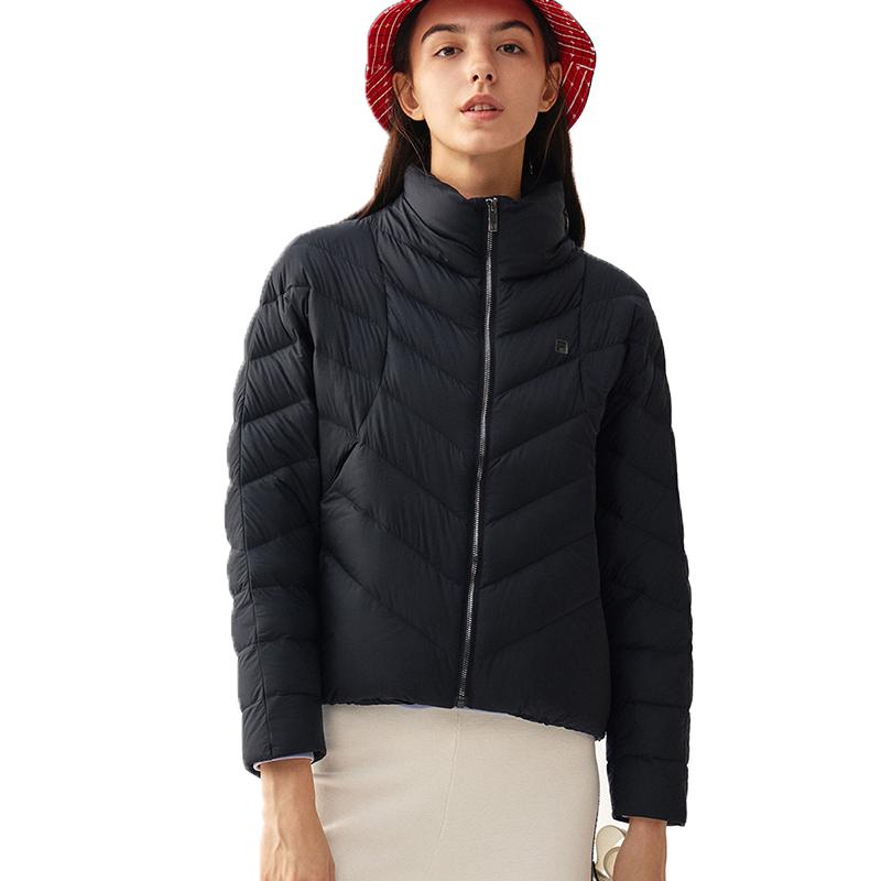 2020冬款女款休闲保暖运动长袖羽绒服F11W048905F