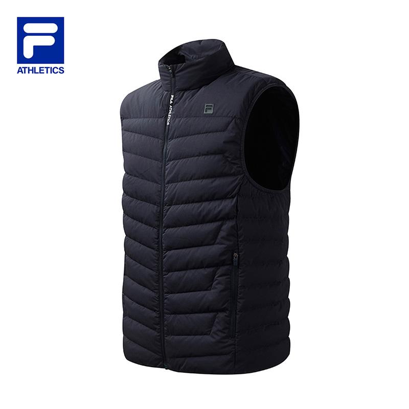 FILA 斐乐男款休闲上衣2020冬季运动舒适保暖羽绒马甲A11M041901F