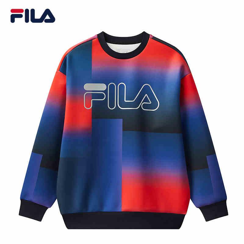 FILA 斐乐男子套头衫2020冬季新品时尚运动宽松卫衣男F11M048224F