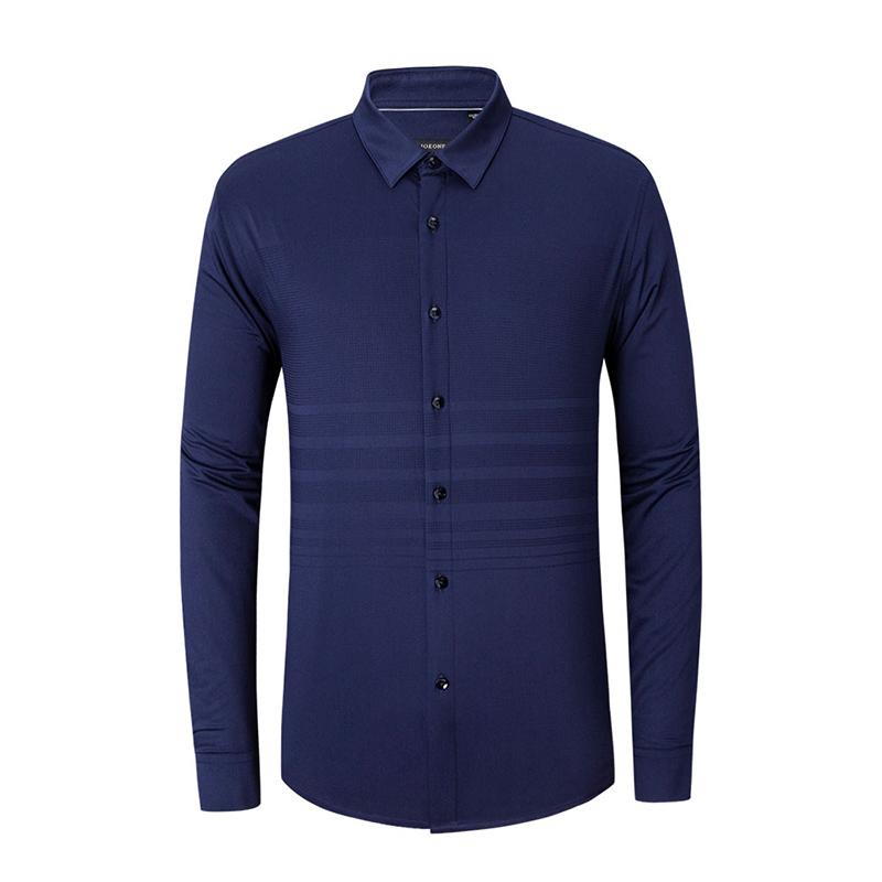 九牧王Joeone 标准版休闲长袖衬衫(加绒) JC395412T