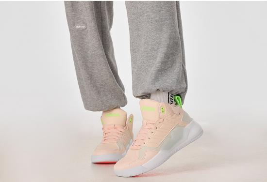 阿迪达斯生活女冬季新款NEO粉色休闲运动鞋轻便透气跑步鞋G5505