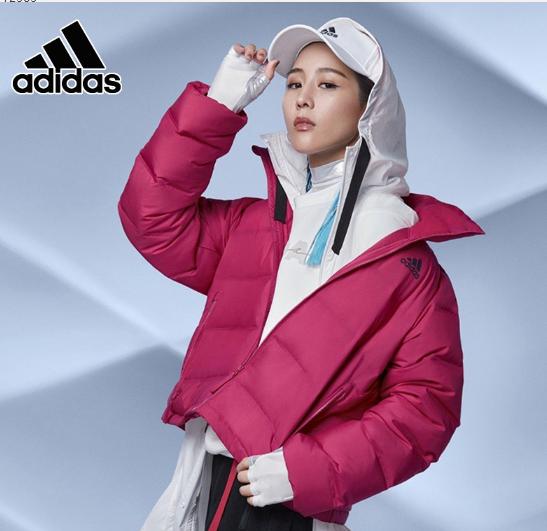 张钧甯同款阿迪达斯外套女2020冬季新款运动保暖休闲羽绒服FT2565