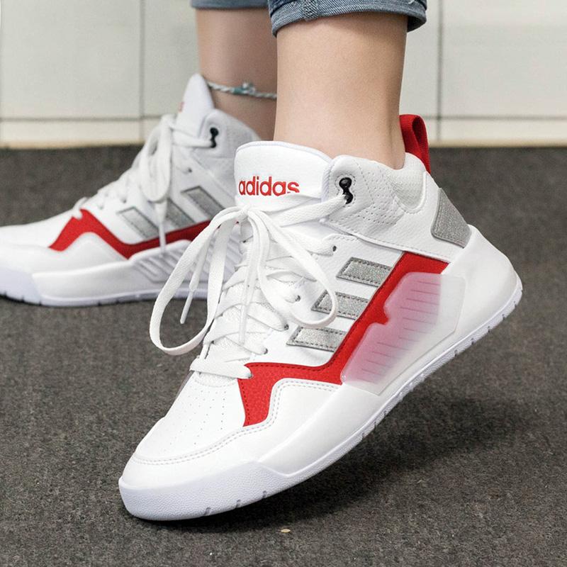 Adidas阿迪达斯生活女鞋2020冬季新款复古运动鞋高帮板鞋FX9613