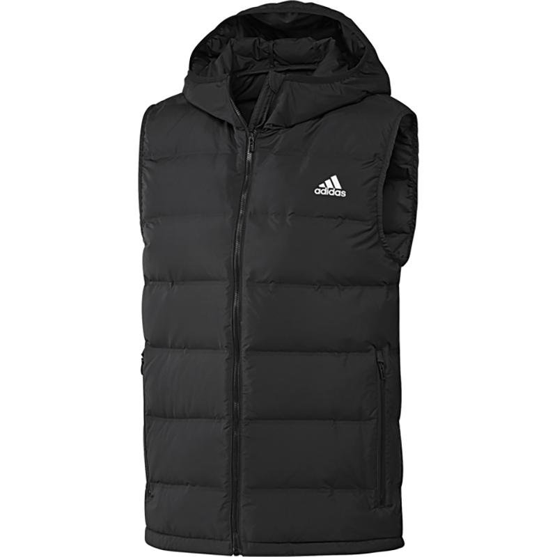 阿迪达斯保暖马甲男装2020秋冬季新款运动服轻薄羽绒服外套BQ2006