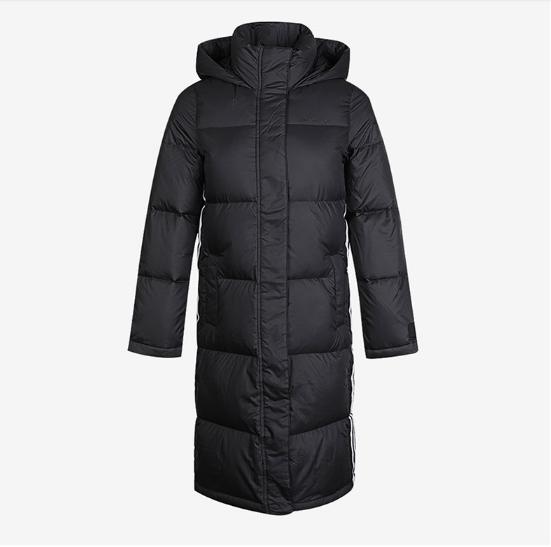 Adidas/阿迪达斯正品NEO女子运动休闲保暖长款羽绒服外套 GJ8810