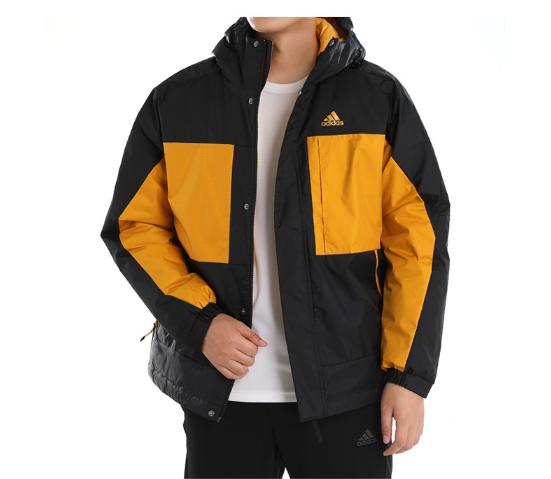 Adidas阿迪达斯羽绒服男装2020冬季新款连帽运动服保暖外套GF0076