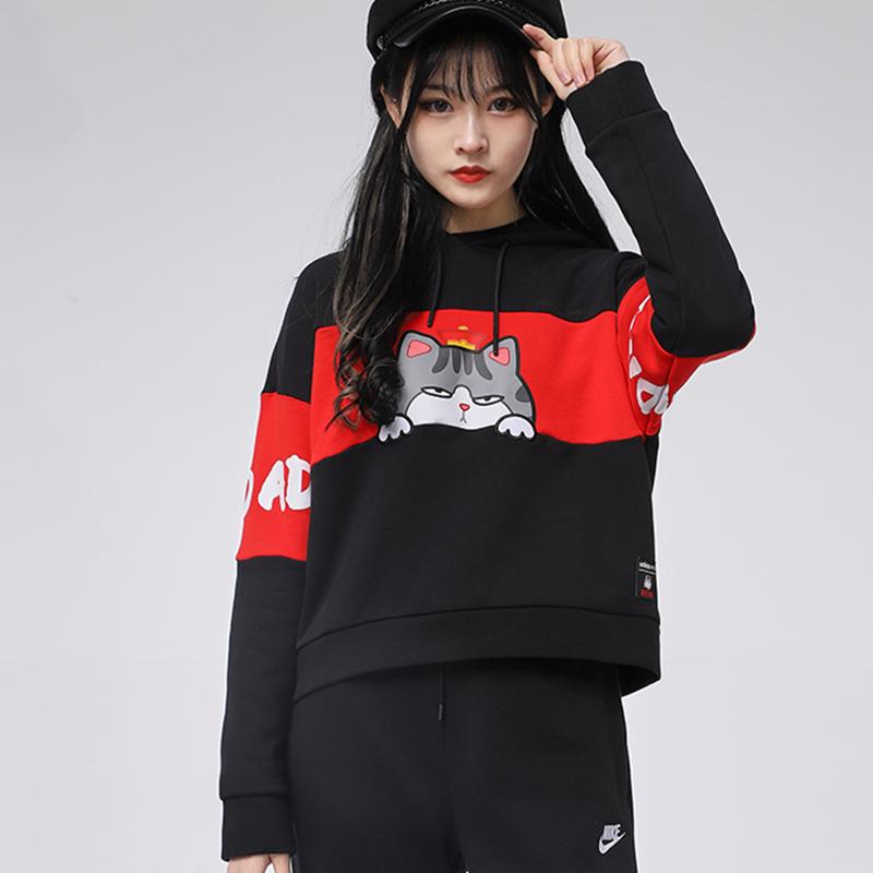 Adidas阿迪达斯卫衣女2020冬季新款吾皇万岁联名连帽套头衫GP5738